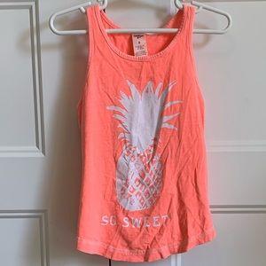 Girls OshKosh pineapple tank top